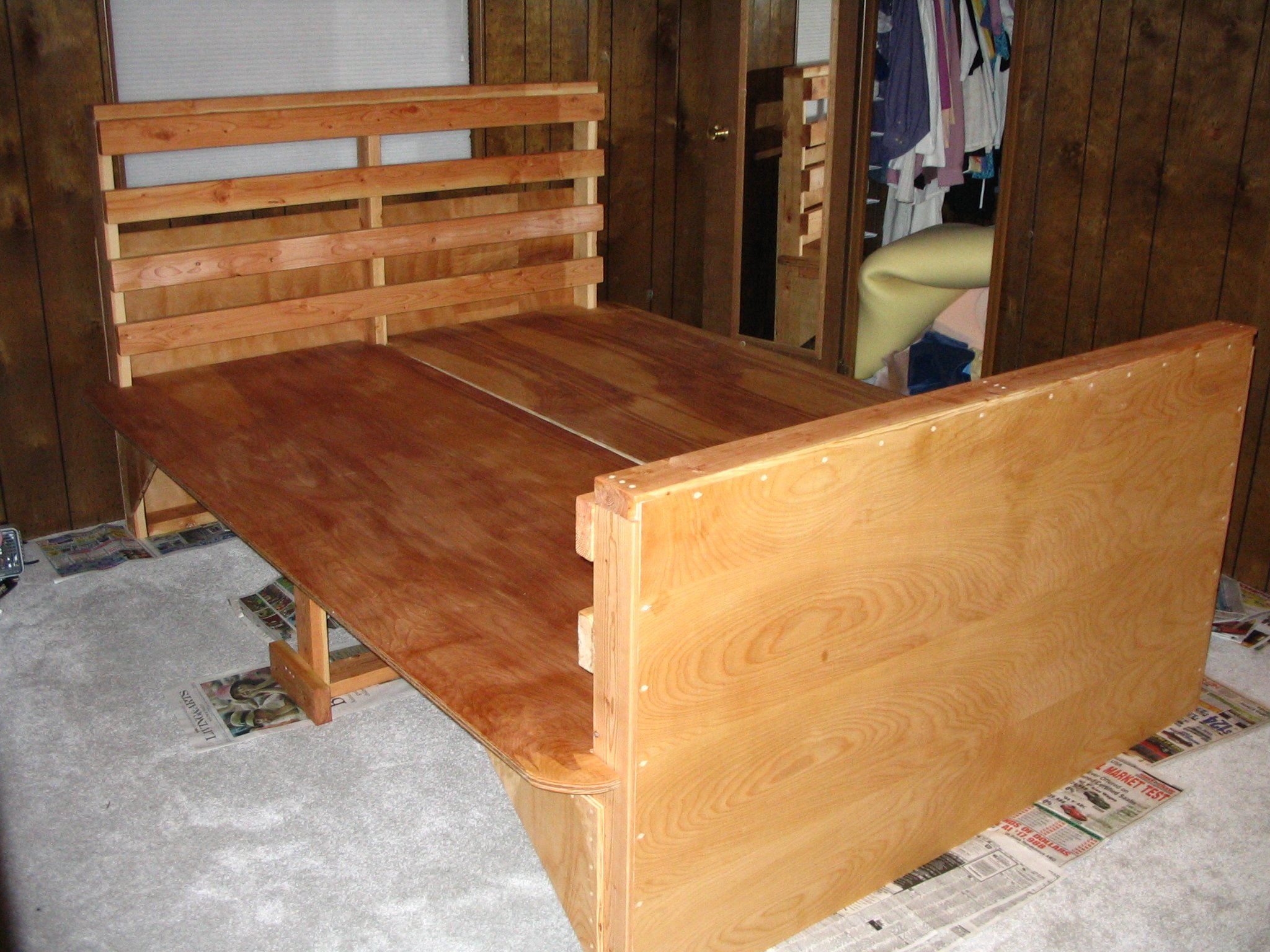 Making A Platform Bed With Plywood